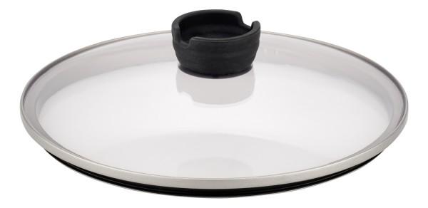ELO Steam - Glasdeckel mit Edelstahl-/Silikonrand und Silikonknopf mit Löffelablage
